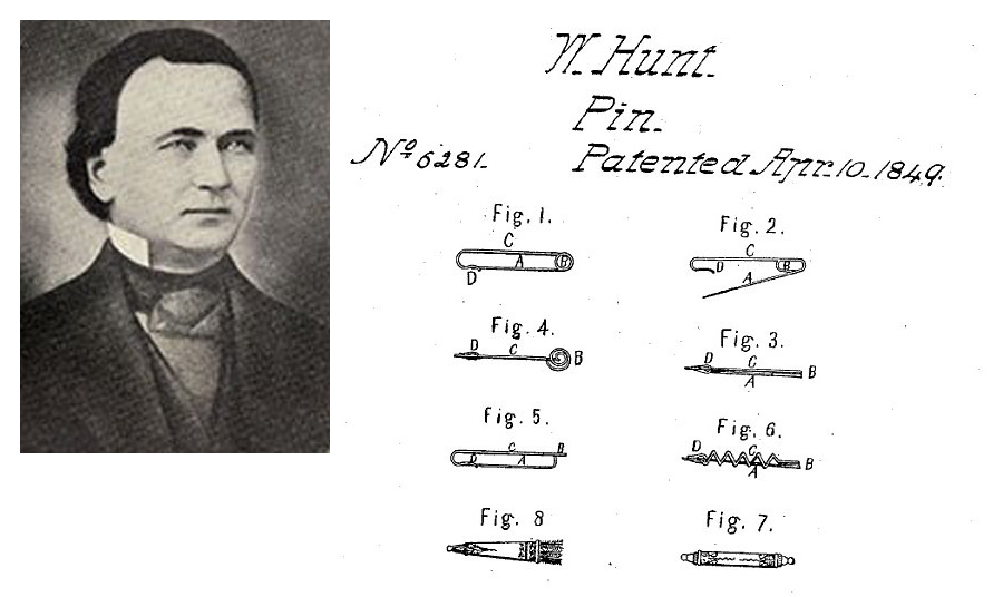 walter hunt patent of safetypin